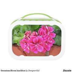 Shop Geranium Bloom Lunch Box created by DesignerGal. Unique Gifts For Mom, Unusual Gifts, Geranium Flower, Perfect Mother's Day Gift, Geraniums, Mother Day Gifts, Lunch Box, Bloom, Valentines