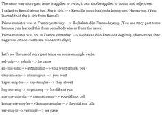 turkish story past tense with -miş- 2