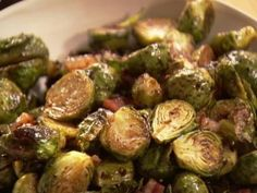 Balsamic-Roasted Brussels Sprouts, pearl onions, feta cheese