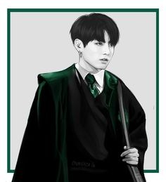 i've always wanted to draw slytherin!jeon…