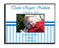 Personalized Baby Boy Photo Frame