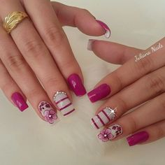 39 - We continue to offer 2019 nail designs to your appreciation - 1 Races continue in nail designs and creativity. New Nail Designs, French Nail Designs, Simple Nail Designs, Winter Nails, Spring Nails, Cute Nails, Pretty Nails, Hair And Nails, My Nails