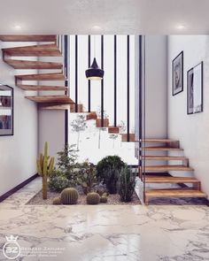 Simple and Modern Staircase Design Ideas (Best for Home and Office) - JJones Home Stairs Design, Home Design, Interior Design Living Room, Staircase Interior Design, Staircase Decoration, Staircase Ideas, Decoration Design, Style At Home, Escalier Design