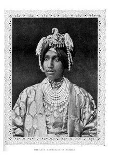 Maharajah of Patiala in pearls