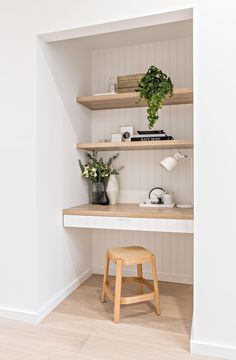 home Office Decor Home Office Space, Home Office Design, Home Office Decor, House Design, Kitchen Office Nook, Small Office, Interior Modern, Home Interior Design, Interior Office