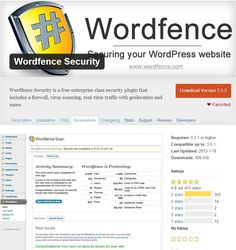 Wordfence Security is a free enterprise class security plugin that includes a firewall, virus scanning, real-time traffic with geolocation and more.