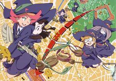 Little witch academia (I feel like we looked into Amanda too much more than the other two. Probs because she's the cooler one of the group :P)