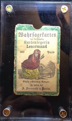 C1870 Soothsayer Mlle Lenormand Fortune Telling Cards Playing Cards 36 36 | eBay