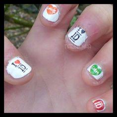 Entrada en el blog-->http://nailenkha.blogspot.com.es/2014/12/nail-art-one-direction.html #easyparis #tatoos #black #red #orange #green #liam #loius #onedirection #1d #ilove #nails #notd #manicure #nailart #polish #nailspolish #nailartadict #cutepolish #cool #fashion #nailideas #manicura #esmalte #uñas #unhas #nailsporn