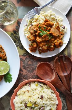 This chicken and andouille dish is chock full of bold Creole flavors. Served with sweet-and-spicy plantation rice that's loaded with coconut, jalapeños, pistachios and raisins, the rich Southern stew is perfect for a Mardi Gras celebration.