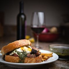 Inspired by Argentina and Uruguay, the Gaucho Chimichurri Steak Sandwich.