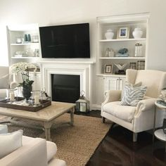 New living room desgn grey couch fireplaces ideas Victorian Living Room, Living Room White, Living Room With Fireplace, New Living Room, Living Room Modern, Living Room Interior, Living Room Furniture, Living Room Designs, Living Room Decor