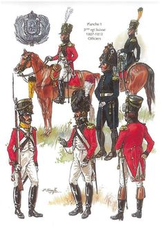 Infantry Regiment, Officers, by P. Military Art, Military History, Army Uniform, French Empire, French Army, French Revolution, Historical Art, Napoleonic Wars, Kaiser