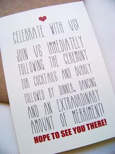 cute reception information wording (adult only) merriment lol