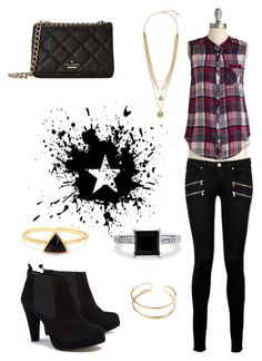 """""""Tacky."""" by sequoiafaie ❤ liked on Polyvore featuring Paige Denim, Ganni, Kate Spade, BERRICLE and Vince Camuto"""