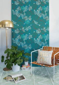 cover foam board/plywood with wallpaper etc Colorful Removable Decorating Ideas for Renters | Apartment Therapy