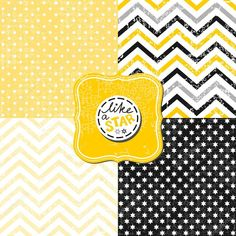 little polka dots stars and chevron black white yellow gray geometric crackle backgrounds set with vintage frames Geometric Patterns, Illustrations, Vintage Frames, Homemade Cards, Vector Art, Design Elements, Polka Dots, Black And White, Letters