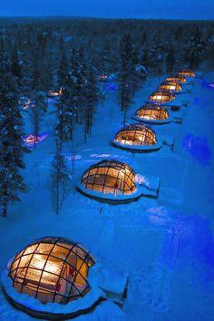 #14 Sleep in a glass igloo at Kakslauttanen Arctic Resort, Lapland, Finland