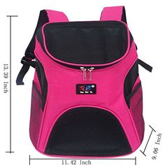 LIANGSM Cat Dog Pet Carrier Mesh Pup Pack Softsided Outdoor Travel Backpack for Pet Rose red >>> Learn more by visiting the image link.(This is an Amazon affiliate link and I receive a commission for the sales)