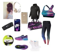 volleyball practice by lolosang on Polyvore featuring NIKE and Beats by Dr. Dre