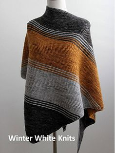 The Autumn Woods Shawl  by Winter White Knits