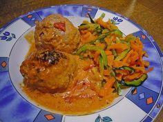 Hackbällchen in Tomaten - Sahne - Soße aus dem Ofen, ein sehr leckeres Rezept aus der Kategorie Gemüse. Bewertungen: 7. Durchschnitt: Ø 4,0.