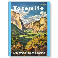Vintage Travel - Yosemite Post Card