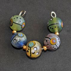 Handmade Lampwork Beads by piedradesigns on Etsy