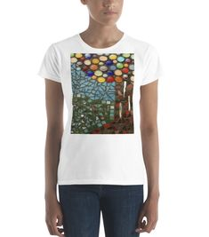 Purchase a t-shirt to support refugees in Uganda. With every purchase, a portion of the sales goes towards transforming these refugees into entrepreneurs. Available in multiple colors. Bizarre Art, Uganda, Online Printing, Colors, Unique, Mens Tops, T Shirt, Stuff To Buy, Design