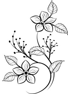 flower pattern for printing,  λουλουδι σκιτσο για εκτυπωση, decorative Saree Collection, Fabric Painting, Flower Prints, Vectors, Tattoos, Floral, Flowers, Painting On Fabric, Florals