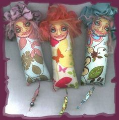 those faces! Creative Characters dotee dolls