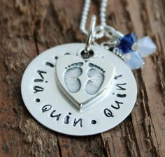 Personalized Lovely Family Necklace - Hand Stamped Sterling Silver, Children's Names, Mommy Necklace | 2 Sisters Handcrafted - www.2sistershandcrafted.com