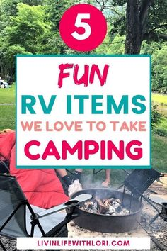 5 Fun and Favorite Must Haves To Take RV Camping - Here are 5 Fun RV Items we love to take camping! These are must-haves for our camping trips in our - Travel Trailer Camping, Rv Travel, Outdoor Travel, Travel Trailers, Beach Travel, Travel Backpack, Budget Travel, Travel Bags, Outdoor Fun