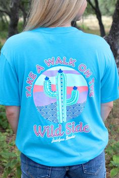 Walk on the Wild Side (Sapphire) - Short Sleeve