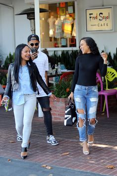 """celebritiesofcolor: """"Christina Milian and Karrueche Tran out in Los Angeles """""""