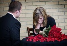 TAKE NOTE: Engagement Night: The groom had the brides dad write her a note, approving of their relationship!