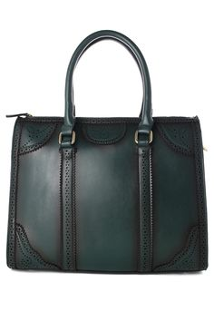 Retro Green Cut Out Bag #chicwish