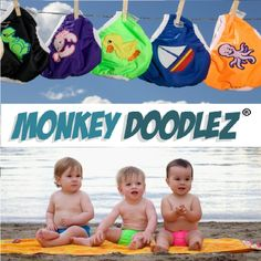 CUDDLE DEAL: Monkey Doodlez Cloth Swim Diapers at 40% Off! http://www.truecuddles.ca/cuddle-deal-monkey-doodlez-cloth-swim-diapers-40/