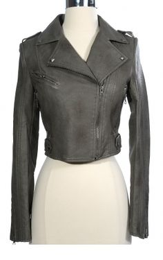 Grey moto jacket, why must you be so cute?