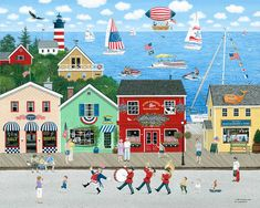 Cottage Art, Thing 1, Star Spangled, Naive Art, Country Art, Love Painting, Deco, Framed Wall Art, Fine Art America