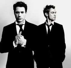 "Dynamic duo: Robert Downey Jr. and Jude Law (""Sherlock Holmes"" movies)."