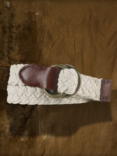 RALPH LAUREN - Cotton Braided O-Ring Belt