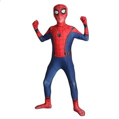 Costume Spiderman Homecoming per bambini Spider-man Spandex Lycra Nylon Zentai Suit Tuta Halloween Male Cosplay, Cosplay Costumes, Spiderman Suits, Zentai Suit, Homecoming, Children, Kids, Spandex