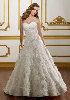 A line Sweetheart Natural Waist Organza Floor Length Sleeveless Wedding Dress