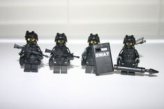 Lego Swat Police Officer Assault Rifle Squad Minifigure Army Builder Custom on Etsy, $60.00