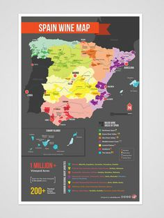 Detailed Map of Spain Wine Country