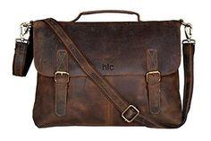 Handolederco Vintage Buffalo Leather Messenger Satchel Laptop Briefcase  Men s Bag Crazy Vintage Leather Messenger Briefcase Bag e2121d6b41