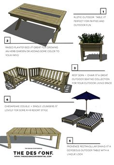 Top 10 Most Popular DIY Outdoor Furniture Plans | The Design Confidential