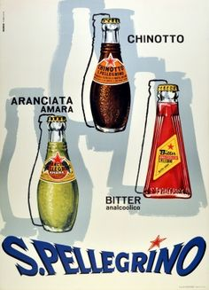 San Pellegrino, 1950s - original vintage poster listed on AntikBar.co.uk