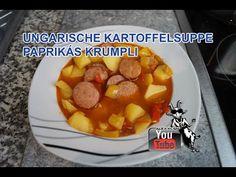 Ungarische Kartoffelsuppe Paprikás Krumpli - Das genaue Rezept findest Du in meinem Video auf YouTube bzw. dort in der Videobeschreibung.